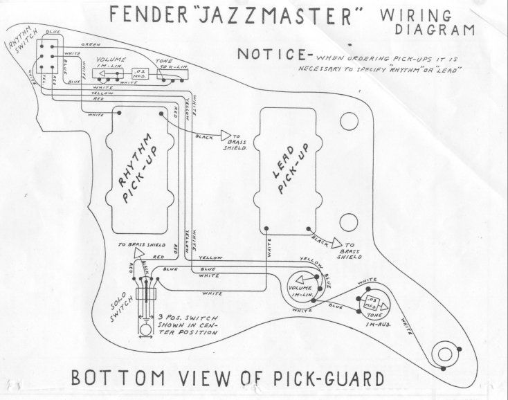 1964 Jazzmaster Wiring Diagram Needed